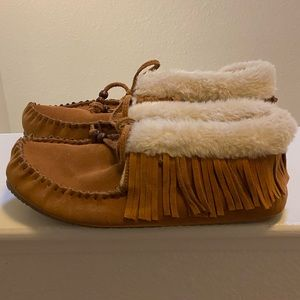 Faux fur lined Moccasins
